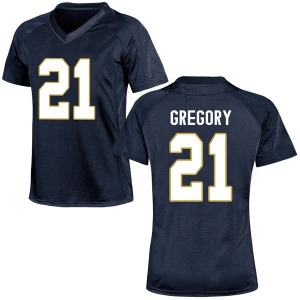 Matt Gregory Under Armour Notre Dame Fighting Irish Women's Game Football College Jersey - Navy Blue
