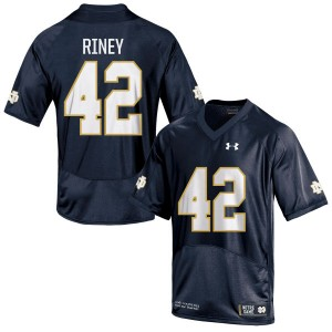Jeff Riney Under Armour Notre Dame Fighting Irish Men's Authentic Football Jersey  -  Navy Blue