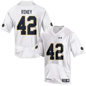 Jeff Riney Under Armour Notre Dame Fighting Irish Men's Game Football Jersey  -  White