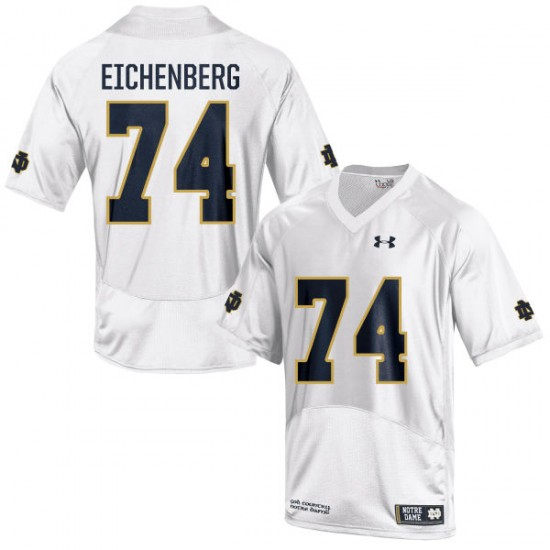 Liam Eichenberg Under Armour Notre Dame Fighting Irish Youth Replica Football Jersey  -  White